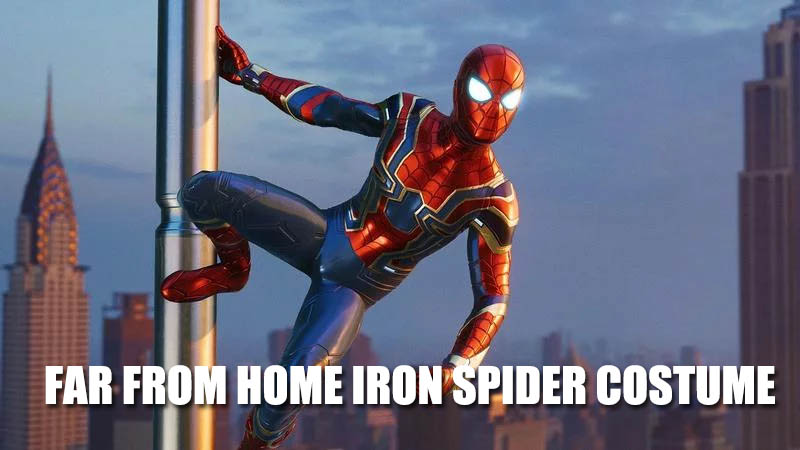 FAR FROM HOME IRON SPIDER COSTUME