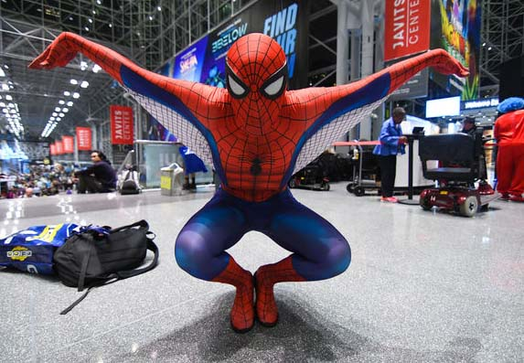 NYCC spider man cosplay shows