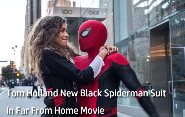 Tom Holland New Black Spiderman Suit in far from home movie