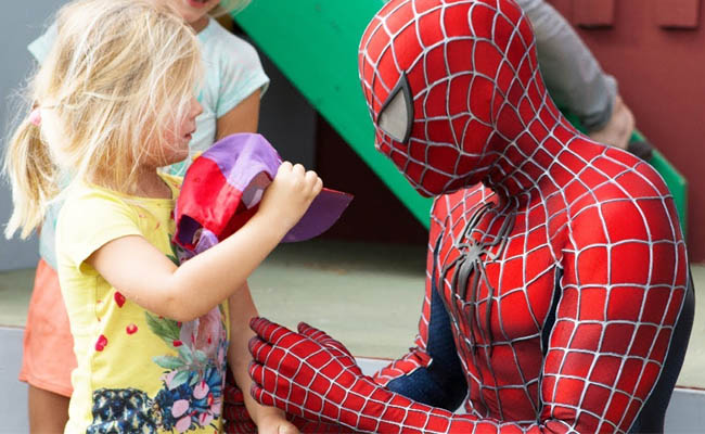 spiderman and kids